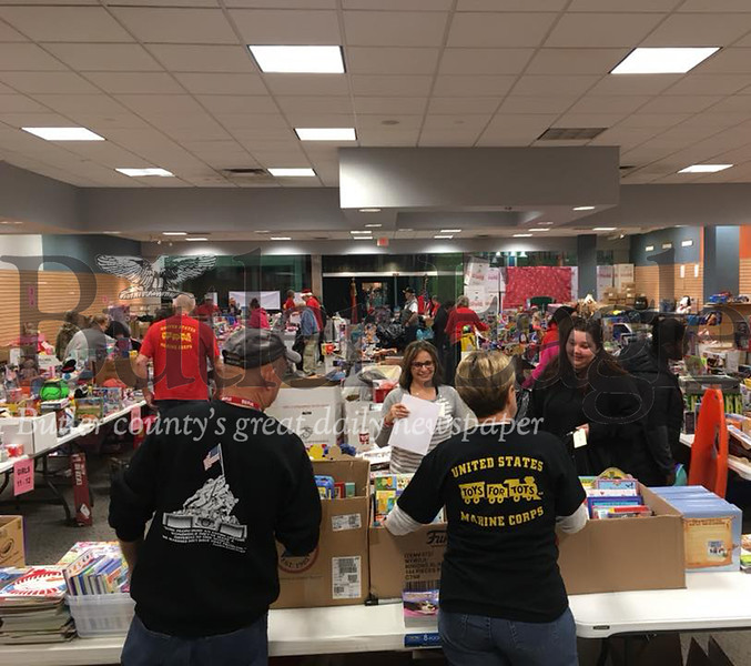 Toys for Tots given out at Clearview Mall Dec. 14, 2018. Photos by Nathan Duke