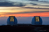 Keck Observatory at Sunset