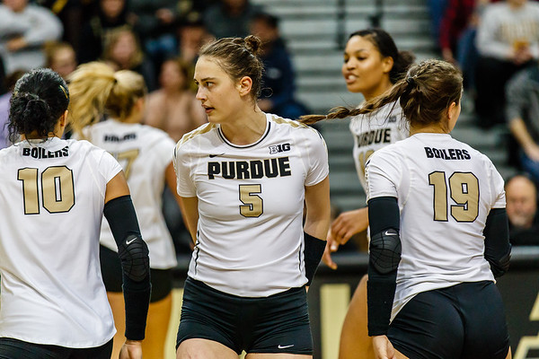 Purdue Volleyball vs U Michigan 2017-11-22