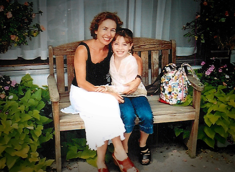 Em and Mom on Bench.jpg