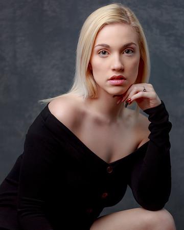 Torie Brown in black