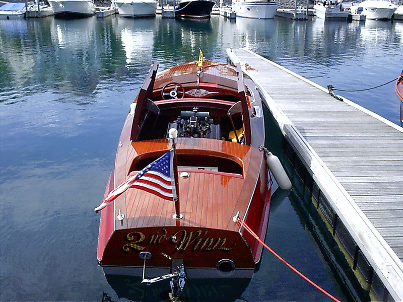Boat displayed at the Bay Harbor boat show in June of 2006.