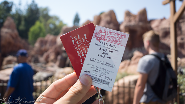 Disneyland Resort, Disneyland, Frontierland, Big, Thunder, Mountain, Railroad, FastPass, Fast, Pass