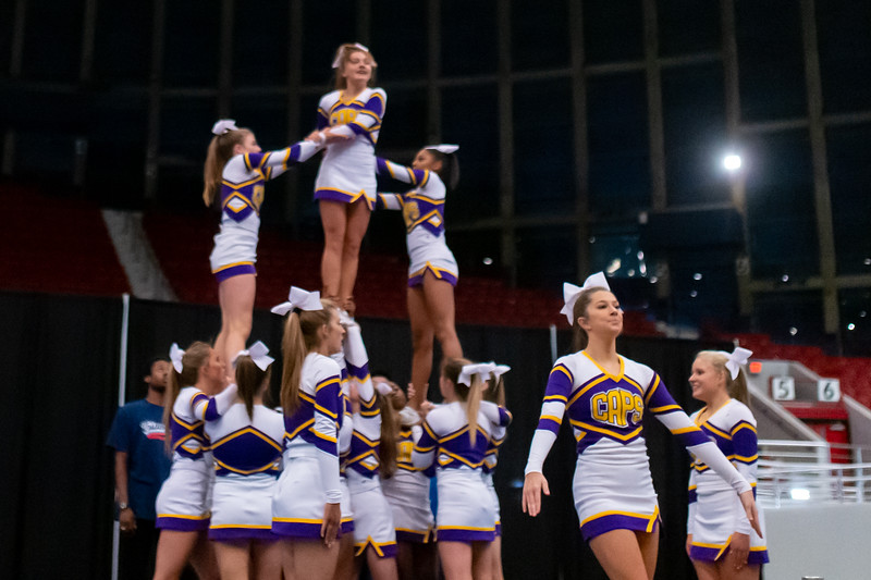 Broughton cheerleading Pre-States. November 16, 2019. D4S_1792
