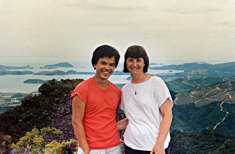 1983_Tuan_and_Gill,_Moehau,_Coromandel.jpg