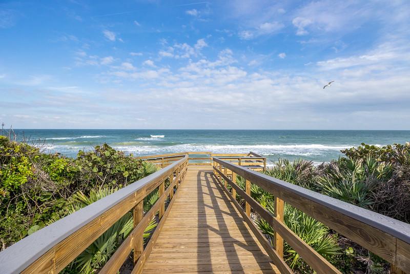 Boardwalk over the dunes onto Playalinda Beach
