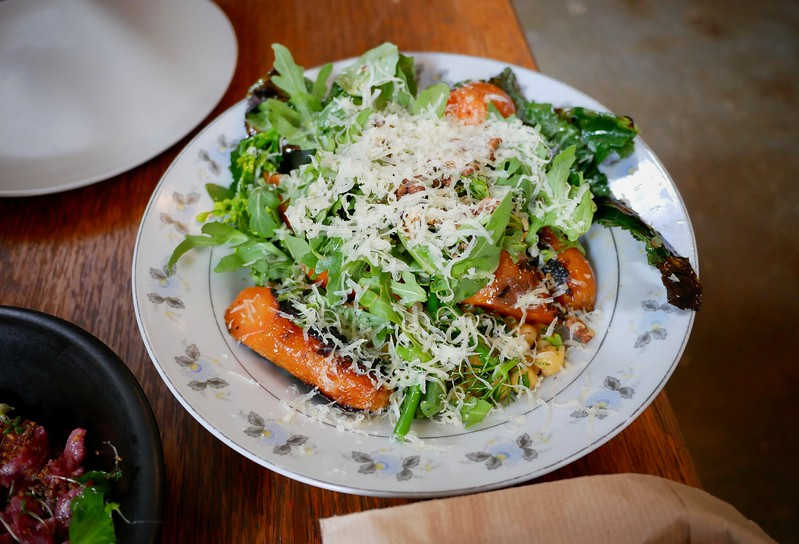Manfred's green dish of the day with vegetables from the farm