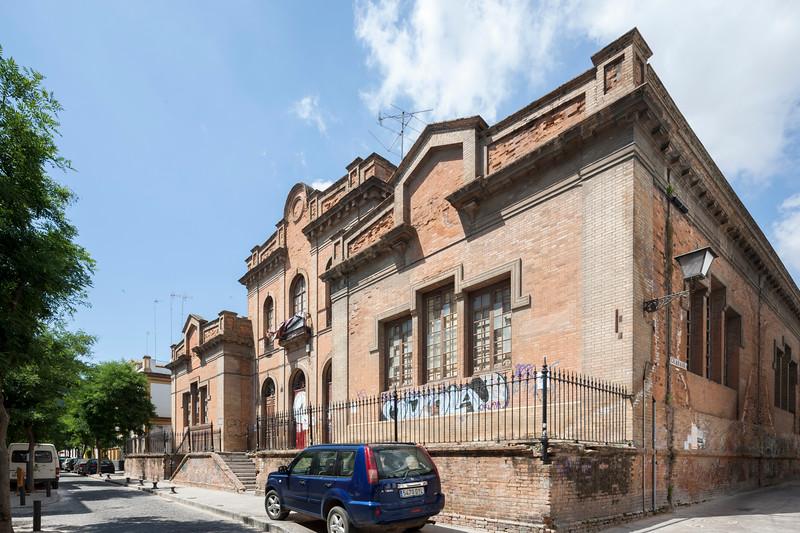 Former San Bernardo public school, building occupied by squatters, Seville, Spain