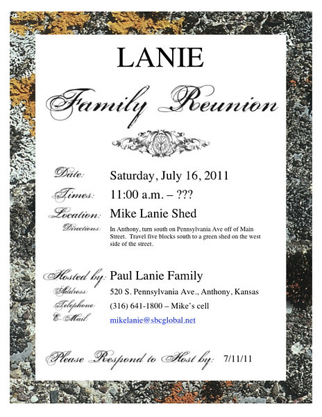 Reunion Info & Family Trees