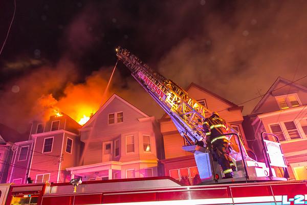 Paterson NJ 4th alarm, 14 & 16 Barnert Pl. 03-07-21