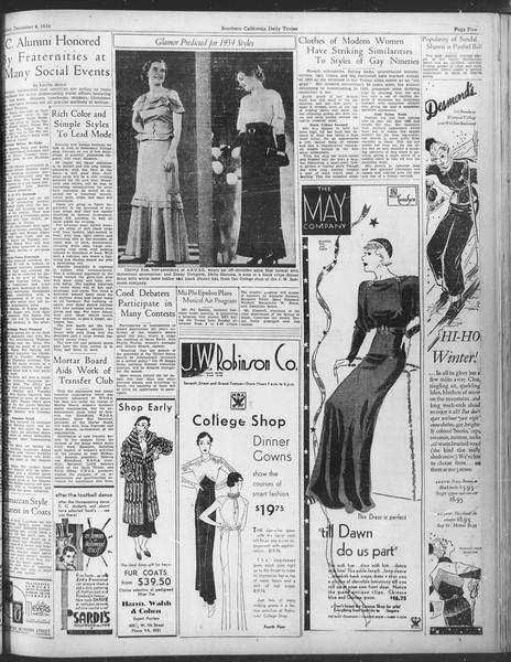 Daily Trojan, Vol. 25, No. 53, December 08, 1933