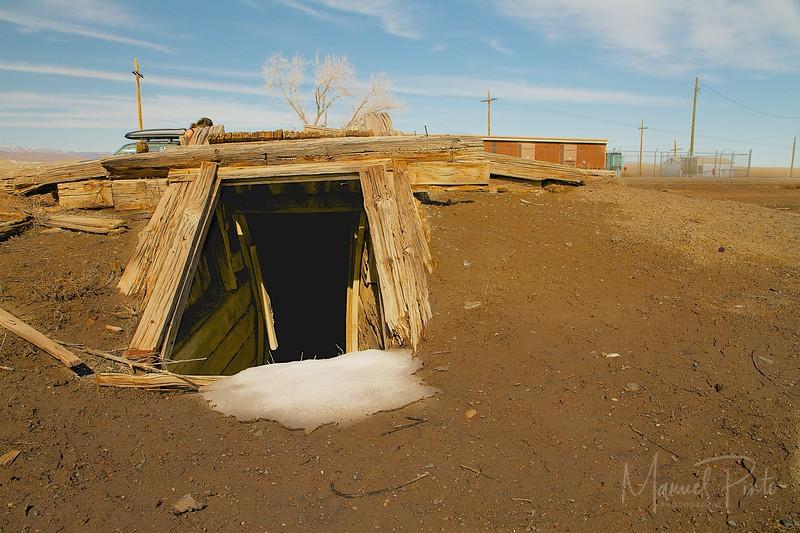 Abandoned Tornado Shelter Cisco, Utah