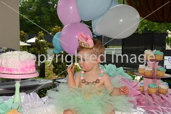 Ava Grace Smash Cake Party 6-17-16