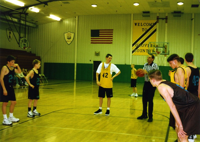 BPW065.  Brooks Burgum shooting free-throw, Ben Burgum in ba.jpg