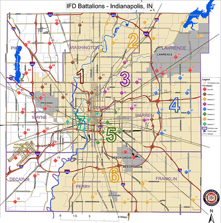 Indianapolis Fire Department Station Map