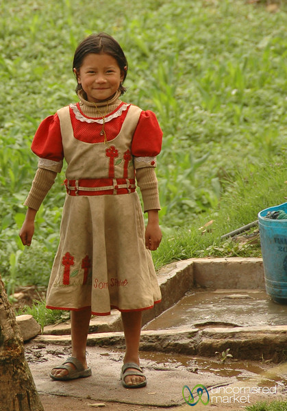 Spirited Girl in Village Near Pelling, Sikkim