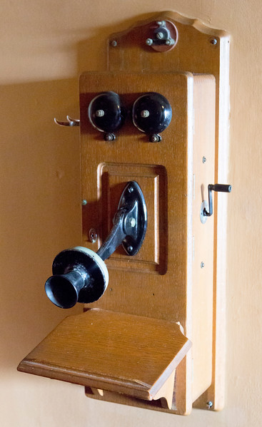 ... and a vintage telephone