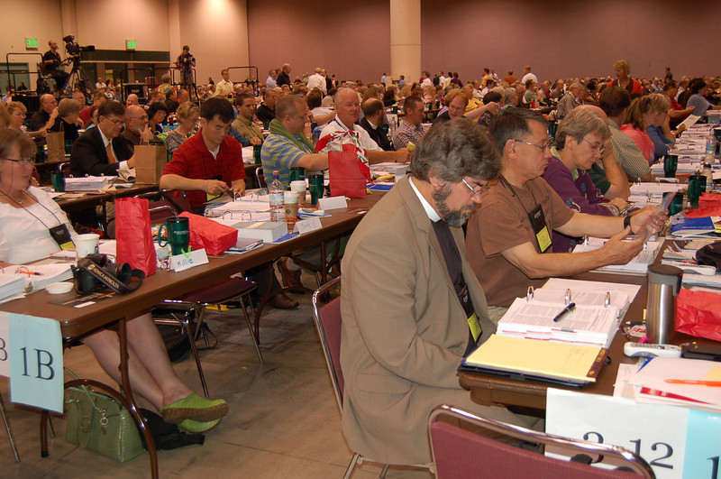 Voting members from Northwest Washington Synod cast their vote.
