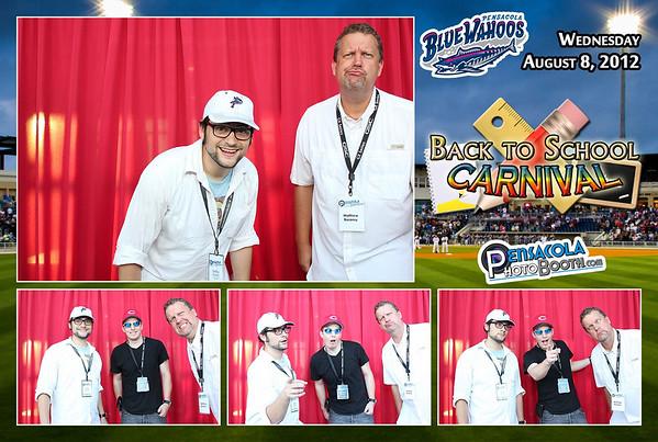 Pensacola Blue Wahoos Host Pensacola Photo Booth Home Game 8-8-2012
