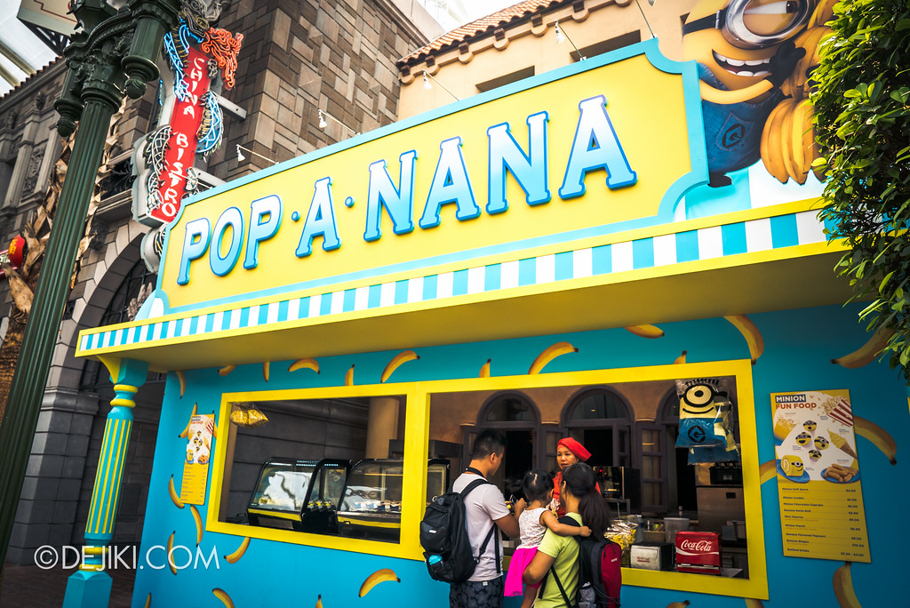 Universal Studios Singapore Park Update July 2017 - Despicable Me Minion Breakout Party event / Pop-a-nana food stall
