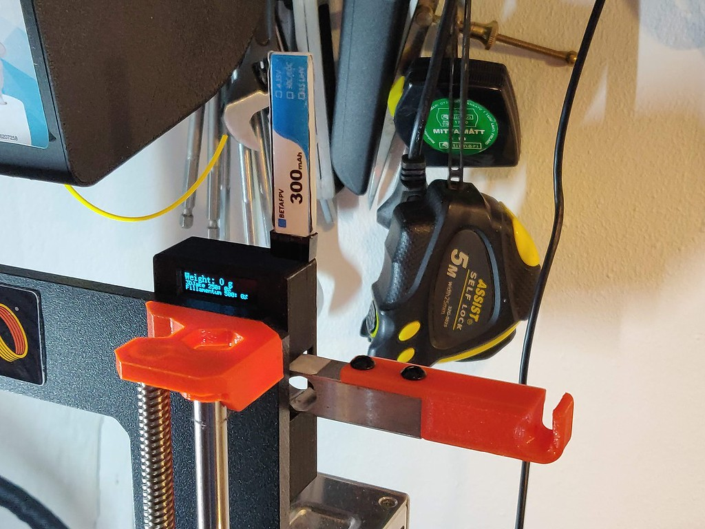 Filament spool scale