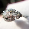 1.18ctw Art Deco Princess Halo Ring 37