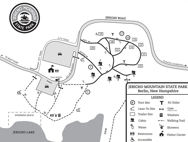 Jericho Mountain State Park (Campground Map)