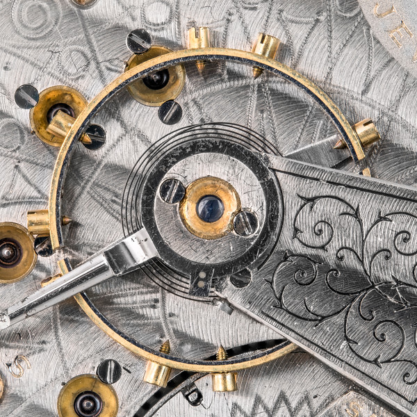 Balance wheel of an antique pocketwatch