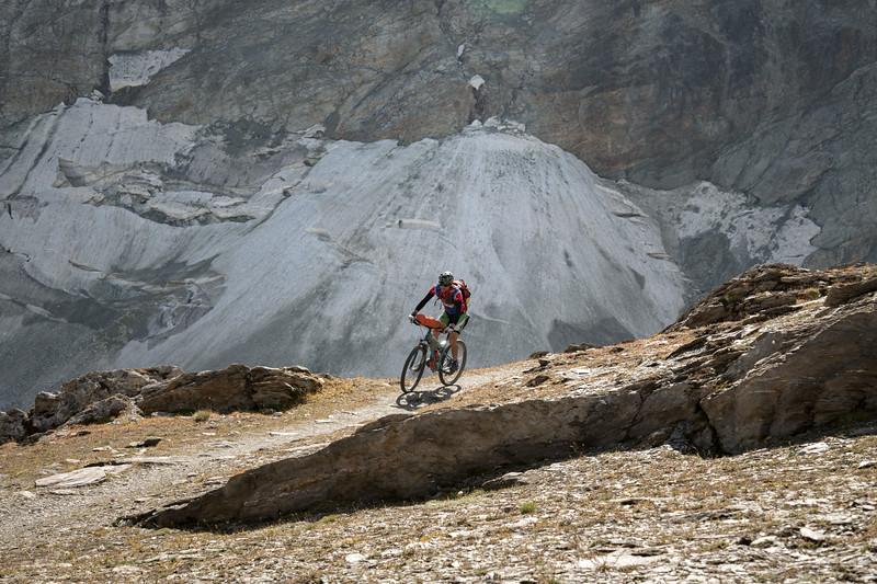 Ben Bardsley below the Fenêtre de Durand, Switzerland
