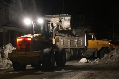 Snow Removal, Market Street, Tamaqua (2-26-2014)