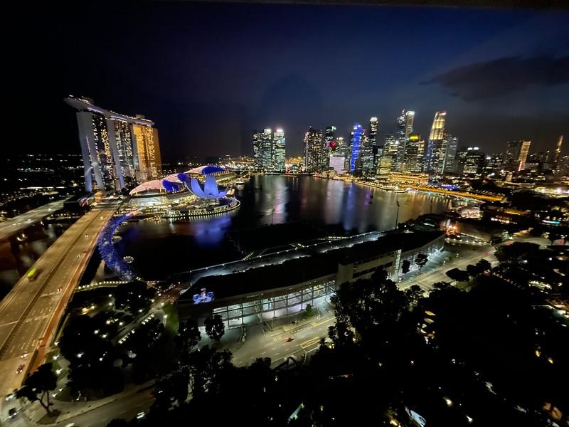 Night View from Ritz-Carlton Singapore Club Deluxe Marina