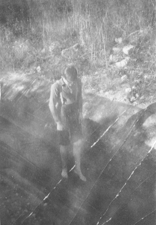 Wayne walking in old Pineview Canal 1937 .jpg