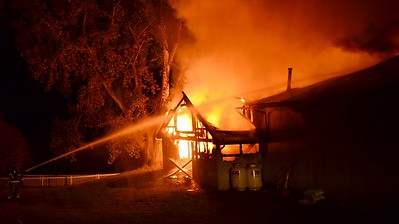 Barn fire - West Bloomfield Road, Mendon, NY - 10/15/20