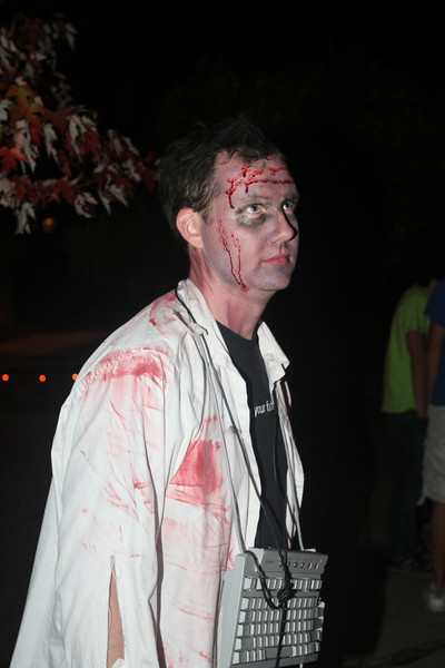 """Cory, a Mac user, in his """"I'm a PC"""" costume."""