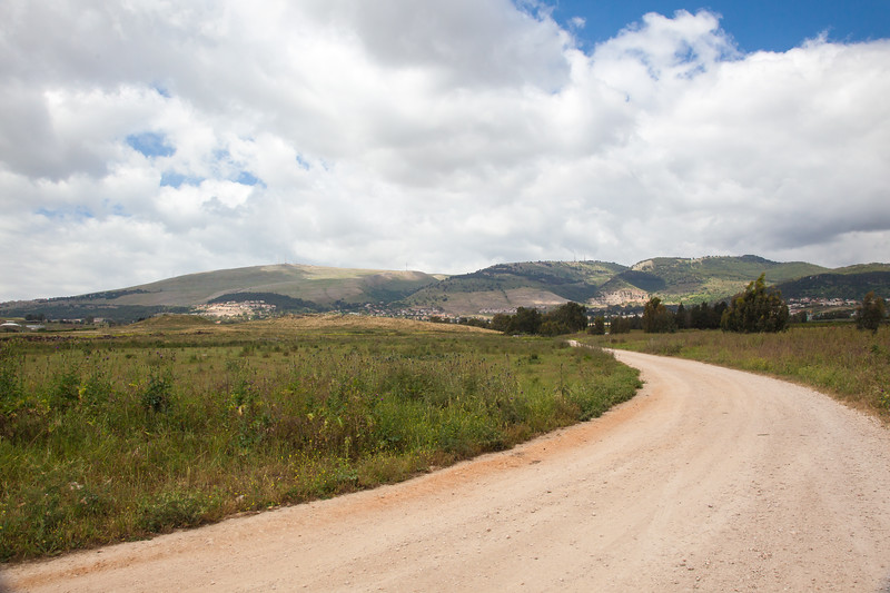 Beautiful landscape of the mountains of Galillee and Golan Heights