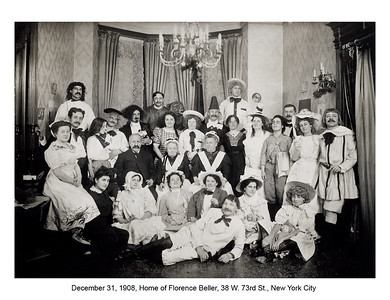 Family costume party, December 31, 1908