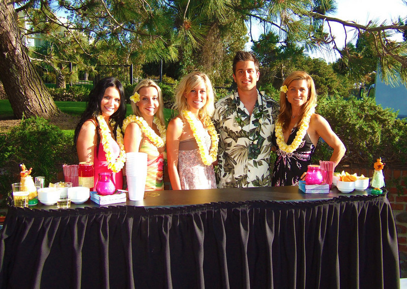 Luau Cocktail Party - ATeam Bar Staff & Party Hostesses