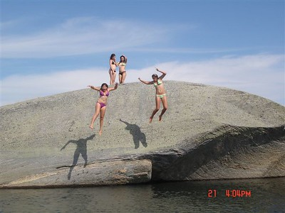 Family Fun, Swimming and Jumping Rock