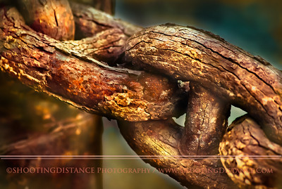Cracking Layers of rust on these Maritime Chain Links Look likeTree Bark