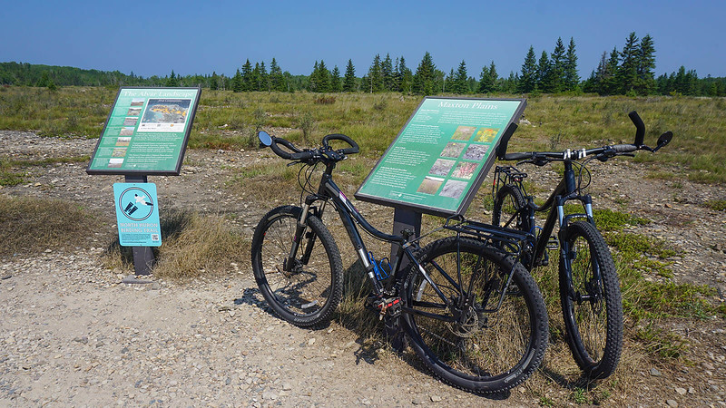 Trek Sky bike trekking bars vs. bar ends at Maxton Plains Michigan
