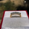 0.48ctw Vintage Transitional Cut Diamond 5-stone Band 6