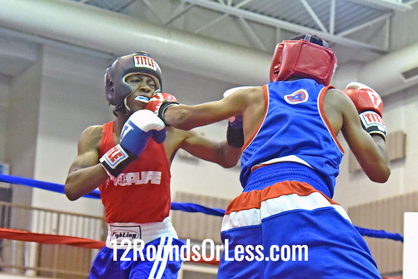 Bout 9 Zamonta Jackson, Red Gloves, 14 yrs, 114 lbs Open, MI -vs- Dante Benjamin, Blue Gloves, 13 yrs, 118 lbs, Open, Cleveland