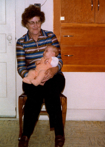 Elissa with her Great-grandma Herdrich in Greenwood, WI