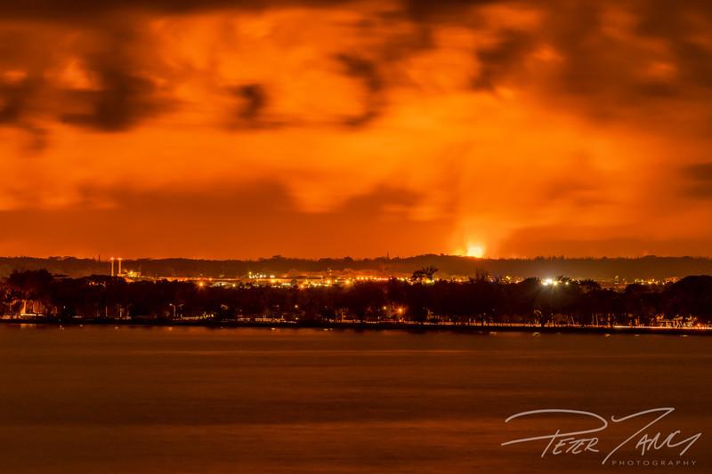 Hilo Bay Front Lava Glow