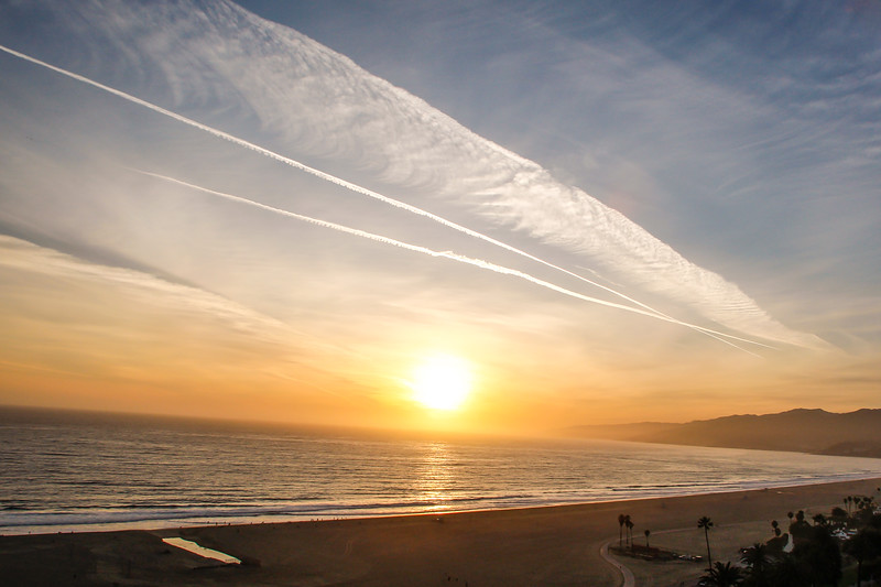 Santa Monica Sunset, California, USA