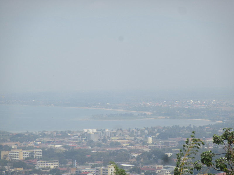 022_Bujumbura. As seen from Kiriri Hill. Congo border is 15km away (after Plage des Cocotiers, far right).JPG