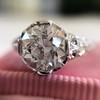 2.23ct Old European Cut Diamond Edwardian Solitaire GIA I VS1 13