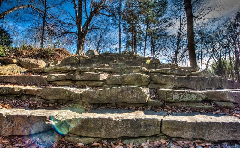 Stone Stairway in Chastain Park