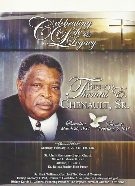 Bishop Thomas E Chenault