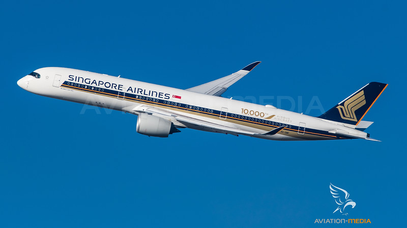 Singapore / Airbus A350-941 / 9V-SMF / 10000th Airbus Aircraft Livery